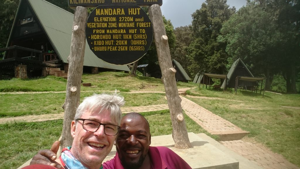 Steen and guide - Kilimanjaro National Park